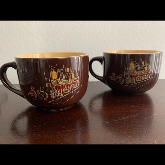 2 Vintage Coffee Mugs Large